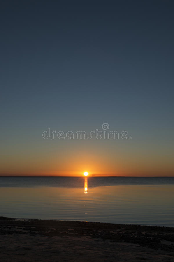 Beautiful Sunset, Mozambique stock photos