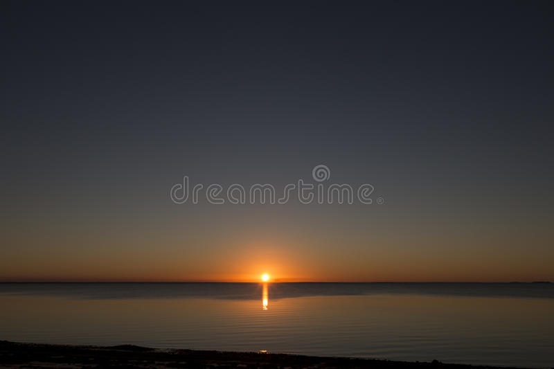 Beautiful Sunset, Mozambique stock images