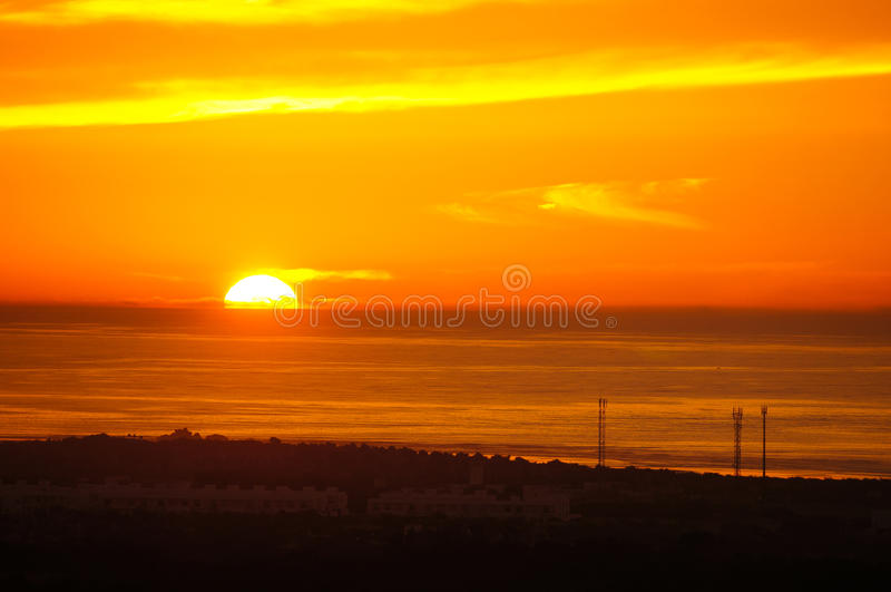 Download Beautiful Sunset Over The Atlantic Ocean, Morocco Royalty Free Stock Photo - Image: 35140125