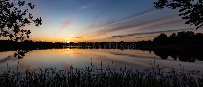 Roegwold nature sunset royalty free stock image