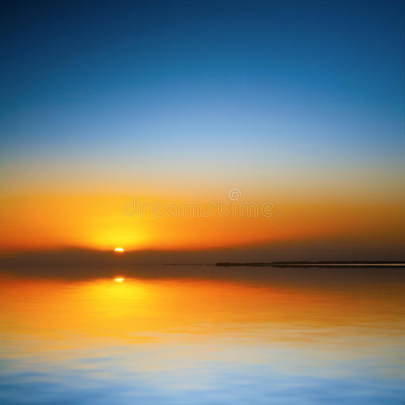 Download Beautiful Sunset Over Water Stock Image - Image: 27948483