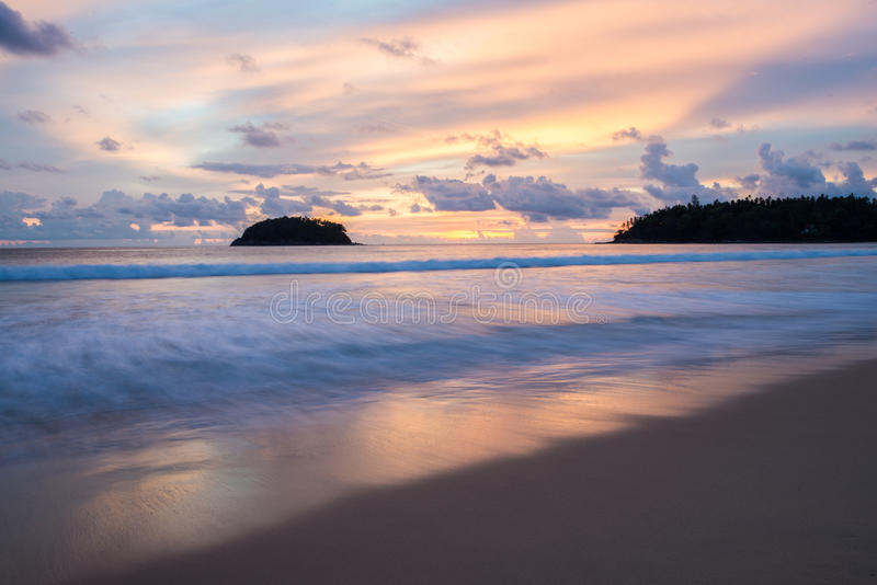 Beautiful sunset in Phuket Thailand stock photography