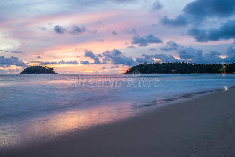 Beautiful sunset in Phuket Thailand stock photos