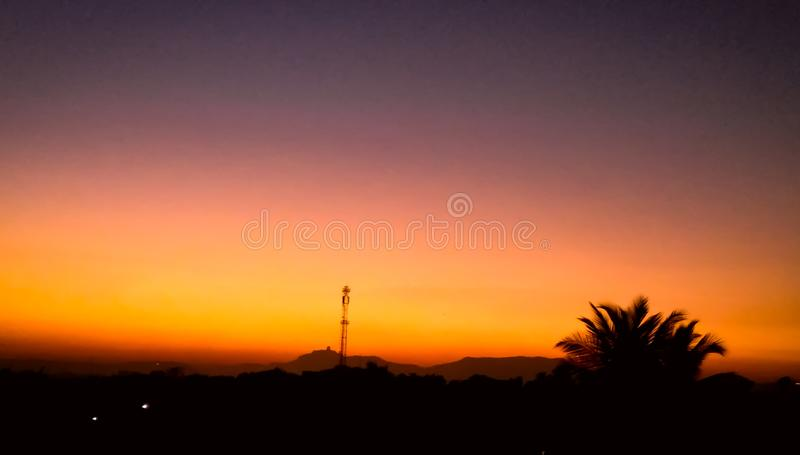 A beautiful sunset picture clicked with high resolution camera. A beautiful sunset picture is clicked and edited professionally stock images