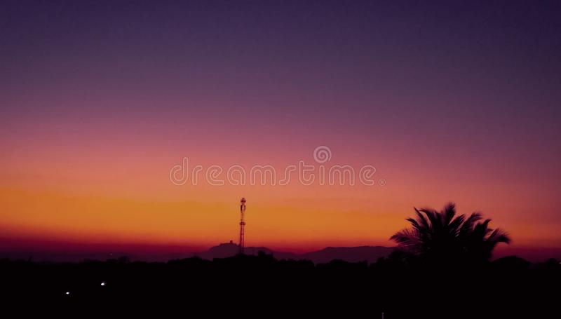 A beautiful sunset picture clicked with high resolution camera. A beautiful sunset picture is clicked and edited professionally royalty free stock images