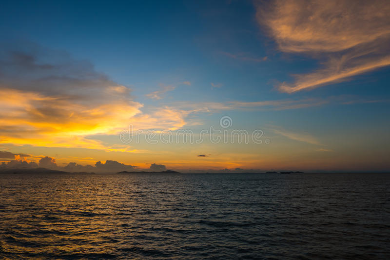 Beautiful sunset royalty free stock photo