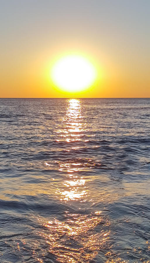 Beautiful sunset with sea in chanthaburi royalty free stock photography