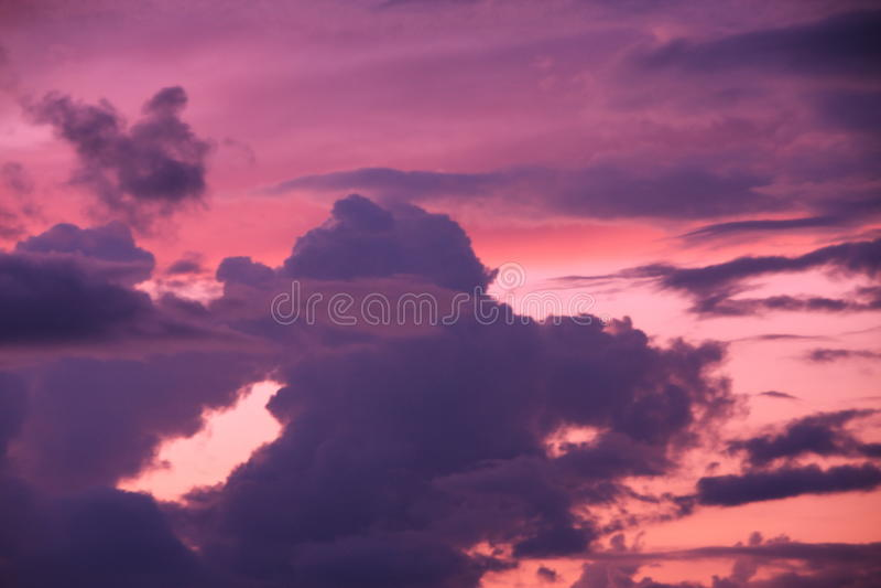 Download Beautiful sunset in sky stock image. Image of beautiful - 13504461