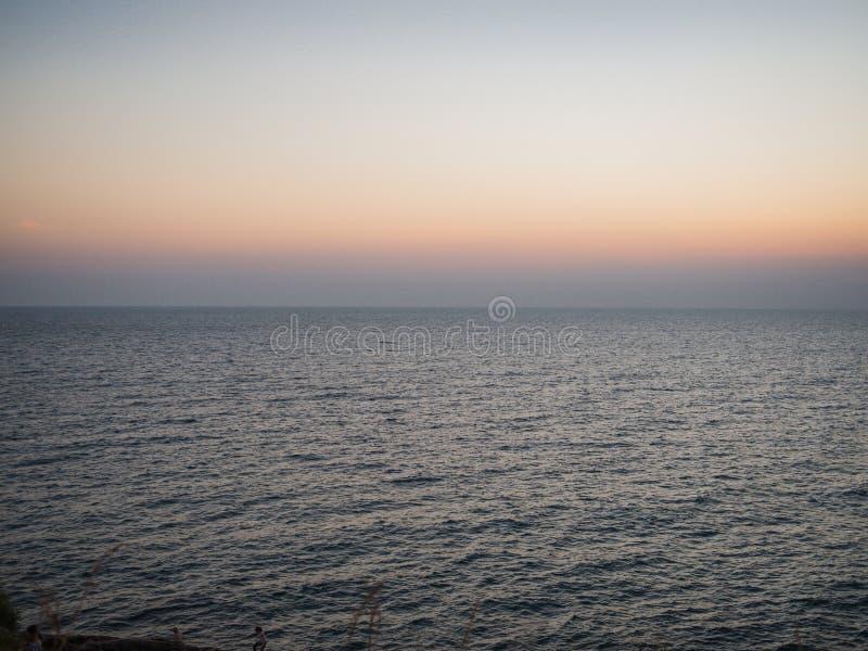 Beautiful sunset on Thailand sea. Background stock photos