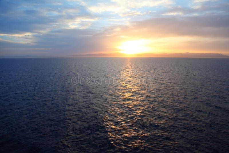 Beautiful sunset under water stock photography