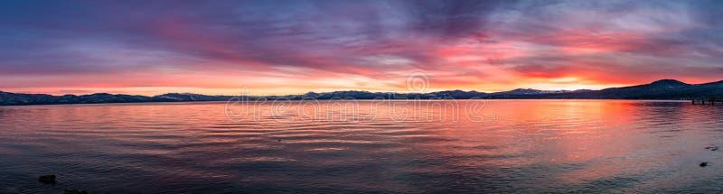 Beautiful sunset views of Lake Tahoe, California royalty free stock photography