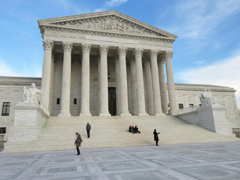 Beautiful Supreme Court at Sunset royalty free stock photo