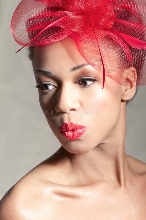Beautiful surprised woman royalty free stock photo