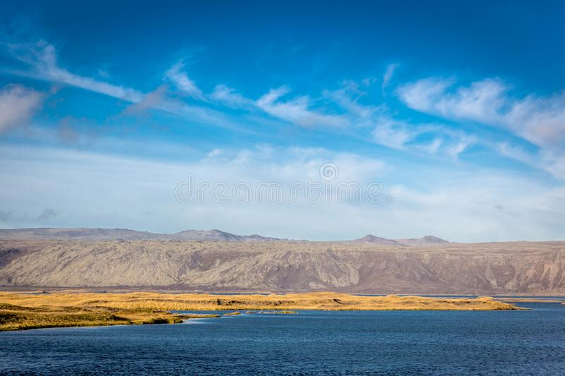 Beautiful and Surreal landscape in Iceland stock photography
