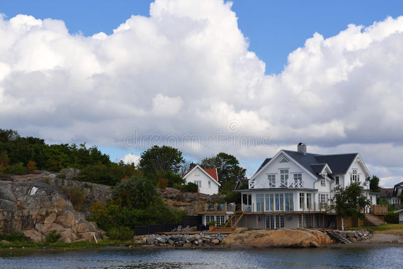 Beautiful Swedish houses stock photo