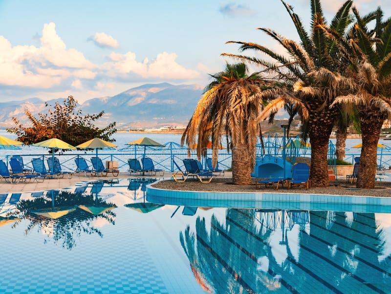 Download Beautiful Swimming Pool On Shore Of Sea Stock Photo - Image: 83717076