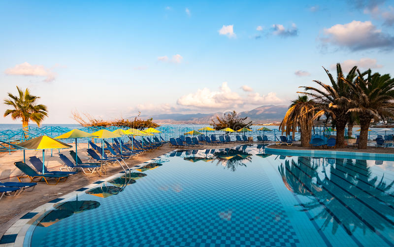 Download Beautiful Swimming Pool On Shore Of Sea Stock Photo - Image: 83718236