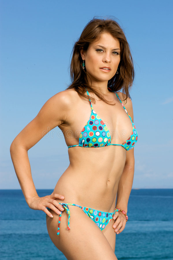 Download Beautiful Swimsuit Model On The Beach. Stock Photo - Image of resort, attractive: 5992160