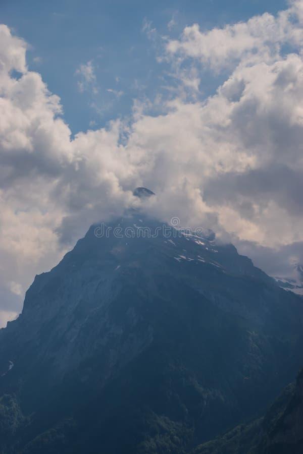 Beautiful swiss alpine landscape in summer royalty free stock image