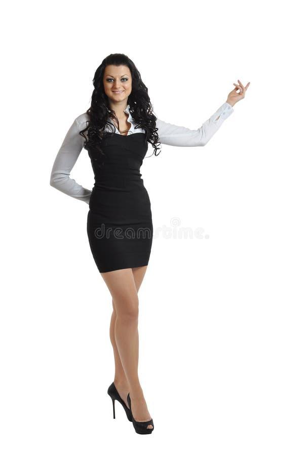 Beautiful tall woman stock image