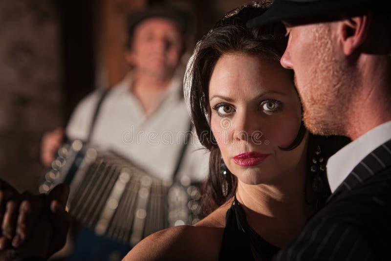Beautiful Tango Dancer with Partner stock photography