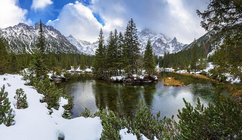 Beautiful Tatra mountains view at Fish Creek stock photography