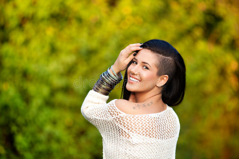 Download Beautiful and tattooed stock image. Image of bracelet - 35229525