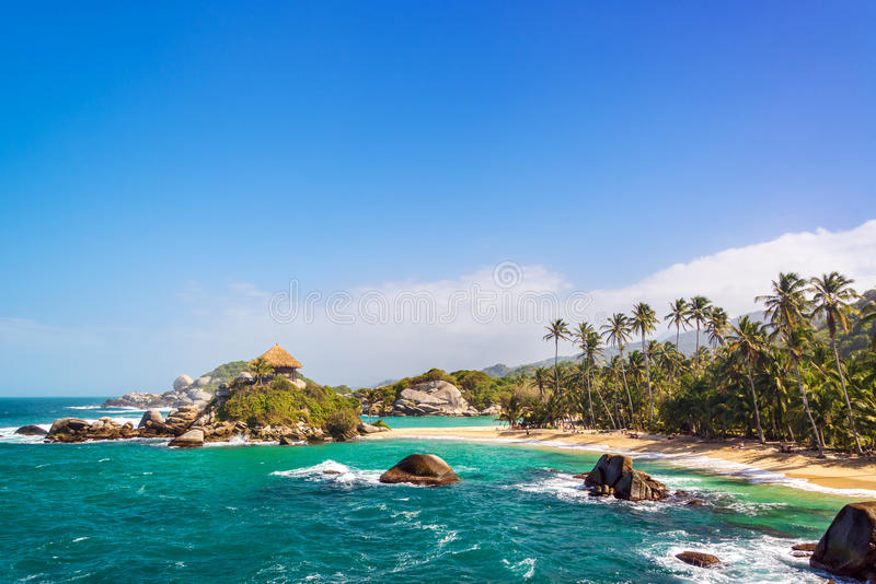 Beautiful Tayrona Beach royalty free stock photography