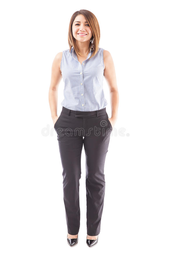 Beautiful teacher on a white background royalty free stock images