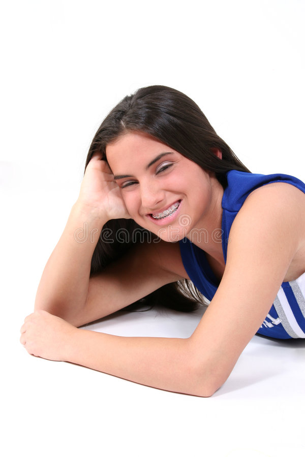 Download Beautiful Teen With Braces stock photo. Image of pretty - 104072