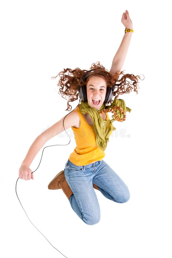 Beautiful teen girl royalty free stock photo