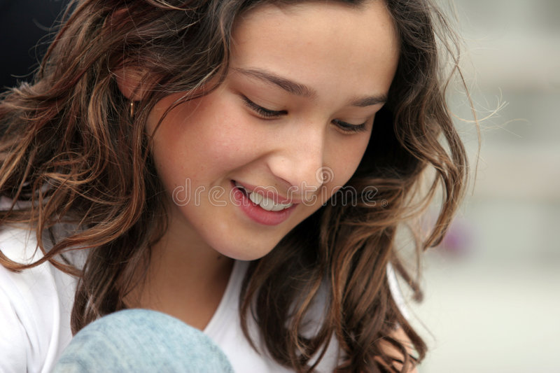 Beautiful teen girl royalty free stock images