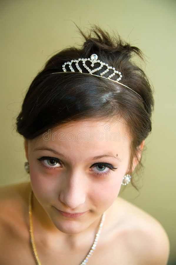 Beautiful teen girl with jewelry isolated royalty free stock photo