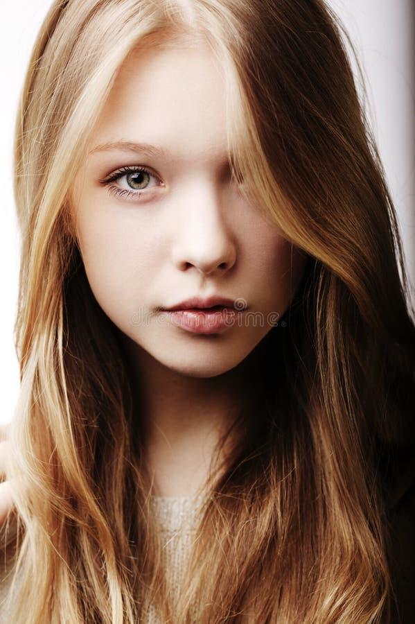 Beautiful teen girl portrait stock photo