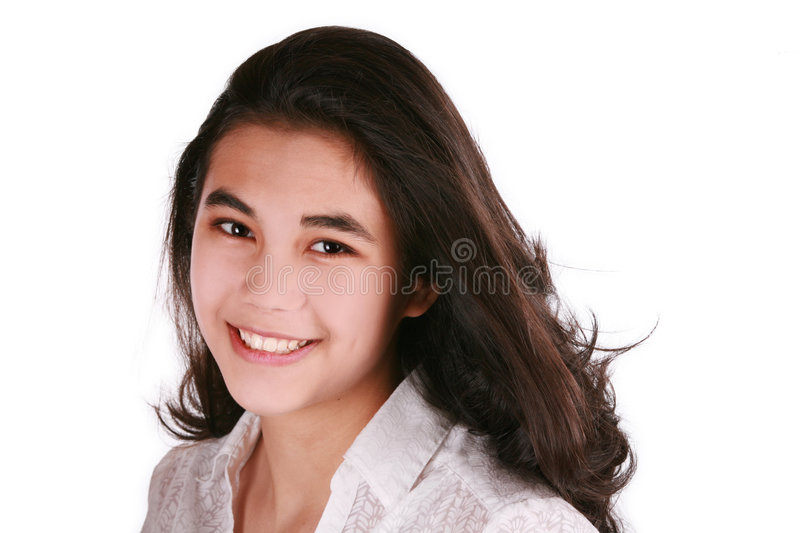 Beautiful teen girl smiling stock photography
