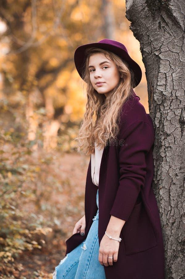 Stylish teen girl stock photos