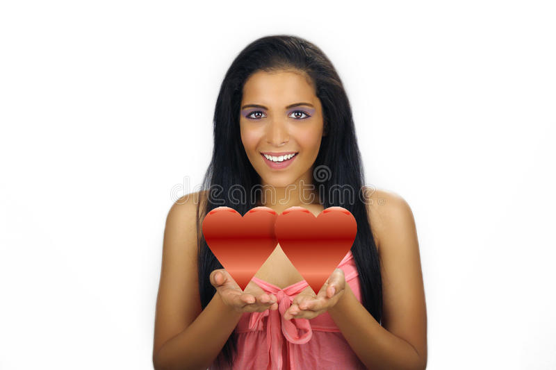 Beautiful Teen Latina Valentine Royalty Free Stock Photography - Image 17391937-9308