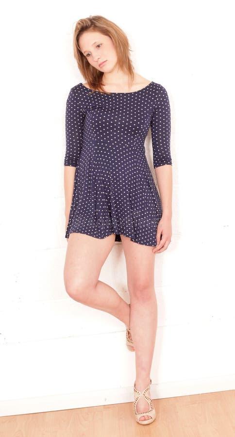 Download Beautiful teenage girl stock photo. Image of dress, white - 25381972