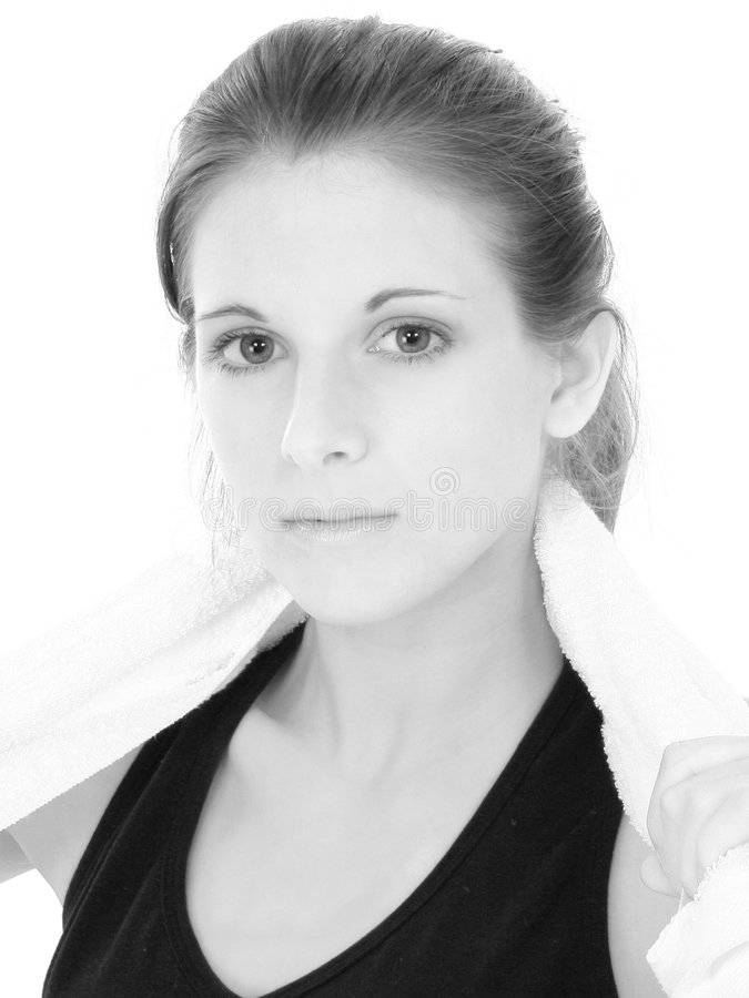 Download Beautiful Teenage Girl Black And White Close Up Stock Photo - Image: 135040