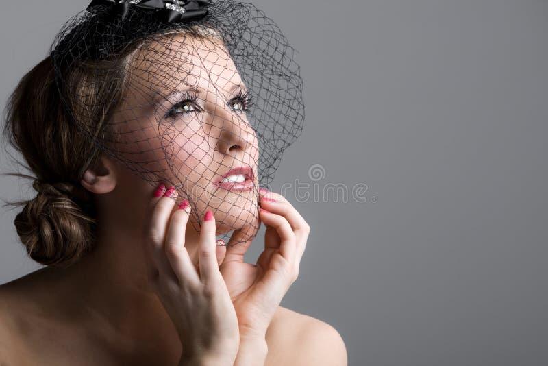 Beautiful Teenage Girl in Veil stock images