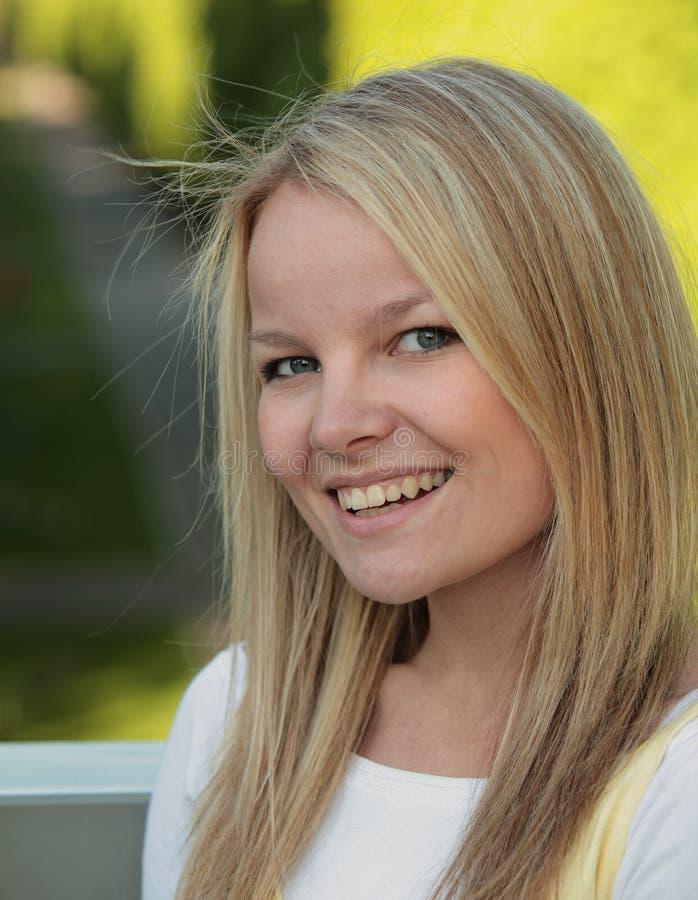 Beautiful teenager. Portrait of a beautiful teenager royalty free stock image