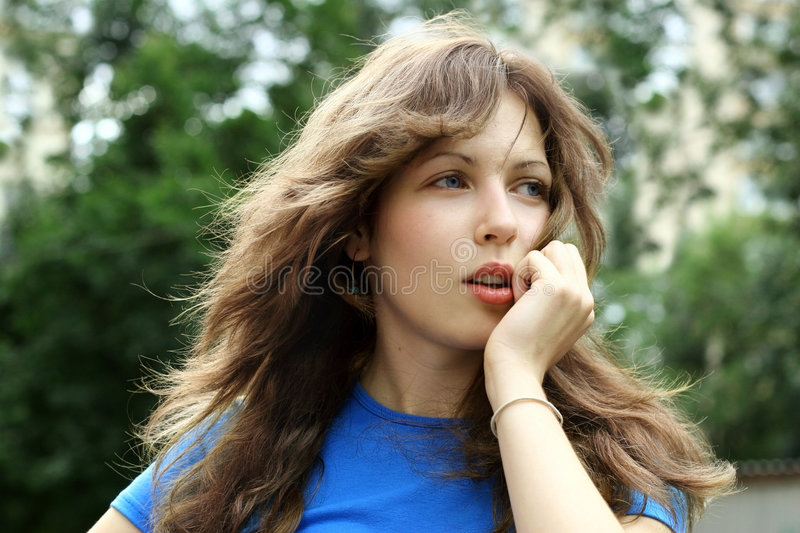 Beautiful teenager outdoor royalty free stock photography