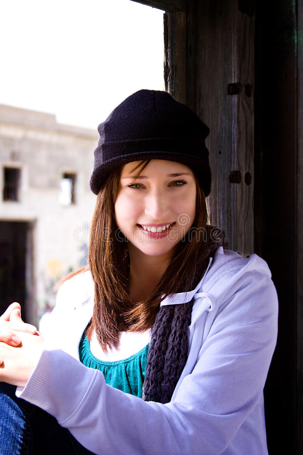 Free Beautiful Teenager With A Hat Royalty Free Stock Image - 9633256