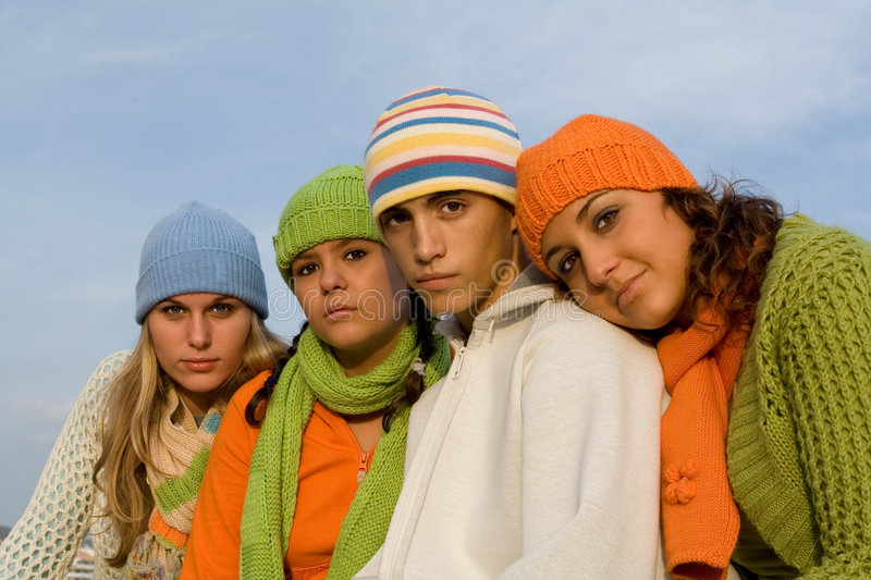 Beautiful teenagers royalty free stock images