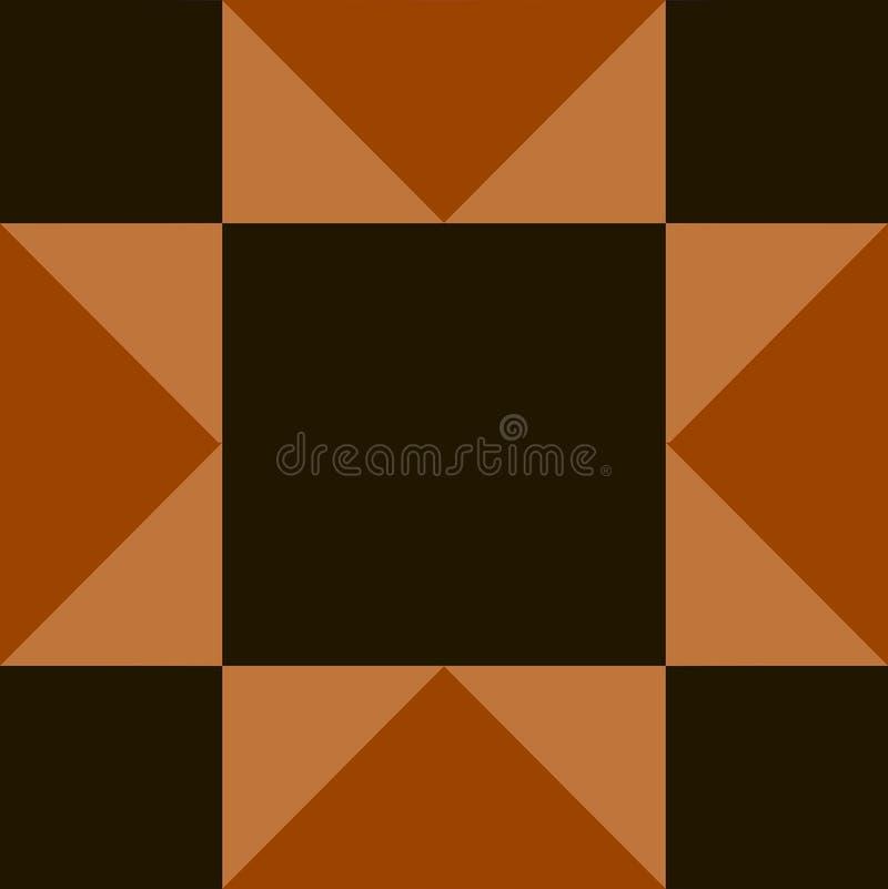 Beautiful  template with geometric pattern stock illustration