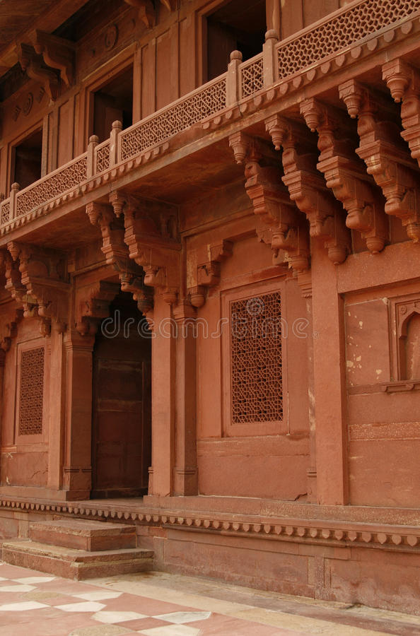 Beautiful temple with engraved walls in Fatehpur S