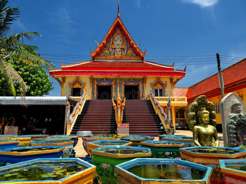 Beautiful temple in peaceful environment royalty free stock photo