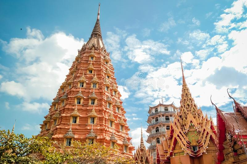 Beautiful temple in Thailand stock photo