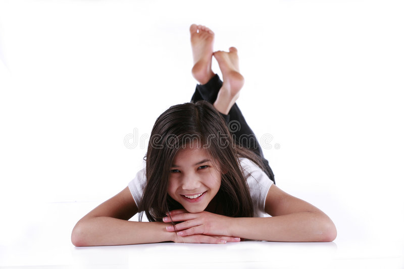Download Beautiful Ten Year Old Girl Stock Image - Image of chin, relaxed: 7956719
