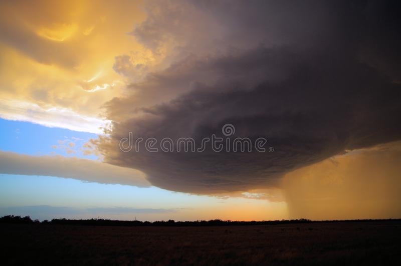 Beautiful Texas Prairie Supercell Storm royalty free stock images